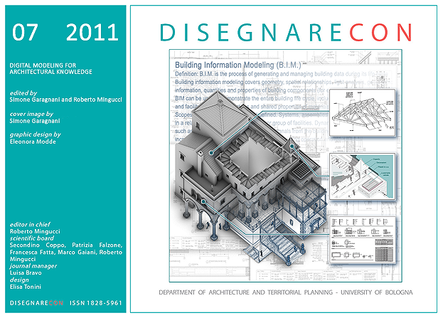View Vol. 4, n. 7 (2011) - Digital modeling for architectural knowledge, edited by S. Garagnani and R. Mingucci